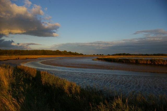 River Alde, looking downriver towards Snape Warren
