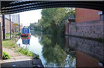 SP0288 : Navigable canal feeder from under the bridge on Bridge Street by Chris Allen
