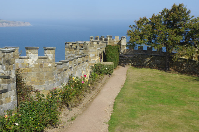 Raven Hall Hotel - battlements and gardens