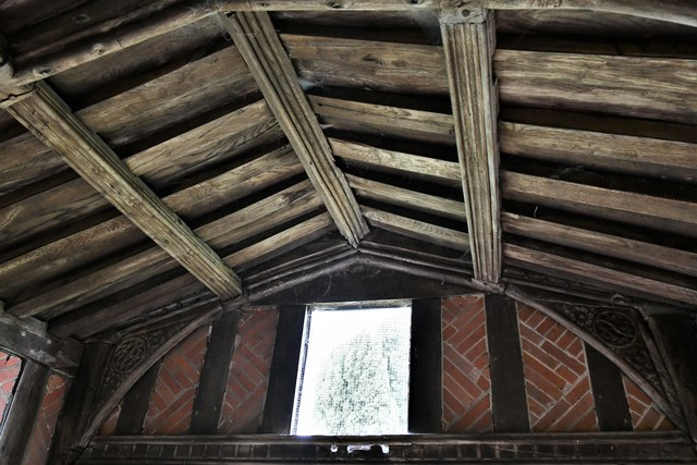 Shimpling, St. George's Church: South porch roof