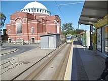 SD8912 : Rochdale Railway Station Tram Stop by Mike Faherty