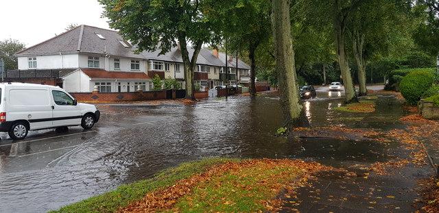 Flash Flood on Billesley Lane