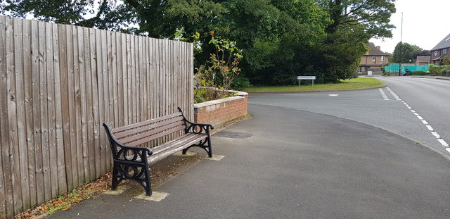 Memorial Bench on Yardley Wood Road