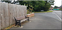 SP0882 : Memorial Bench on Yardley Wood Road by Paul Collins