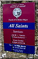 SS8873 : All Saints information board, Southerndown by Jaggery
