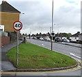ST3090 : 40 sign, Hollybush Avenue, Malpas, Newport by Jaggery