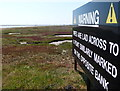 TM4349 : Sign on the salt marshes of the River Ore by Mat Fascione
