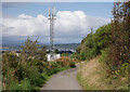 NH6942 : Mobile phone mast, by Old Edinburgh Road South by Craig Wallace