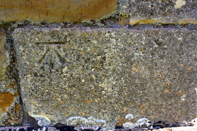 Benchmark on Church of St Mary & St Peter