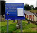 SO1073 : Information board at the entrance to St Cynllo's churchyard, Llanbister by Jaggery
