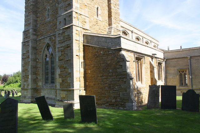 Base of tower and churchyard of St Mary & St Peter Church