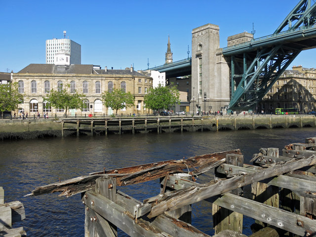 The Guildhall and the Tyne Bridge