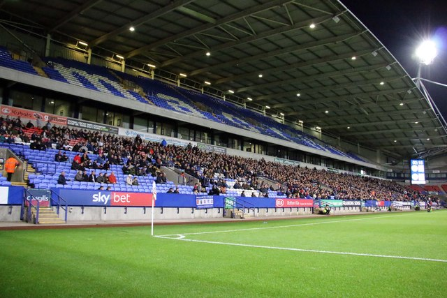 The Nat Lofthouse Stand at the University of Bolton Stadium