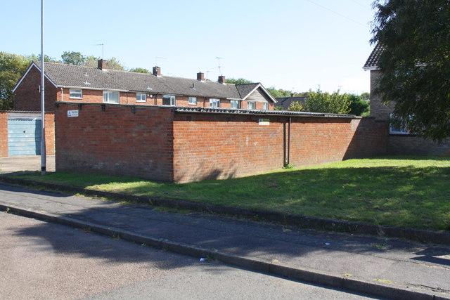 Garage block on SE side of Caythorpe Square at Mantlefield Road junction