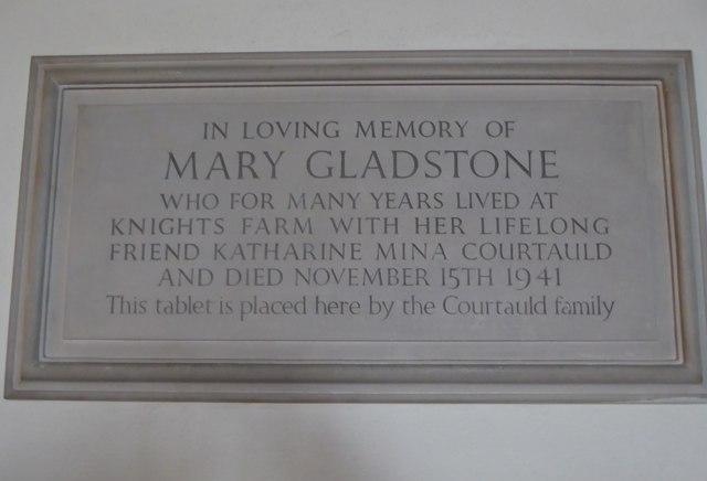 St Andrew, Colne Engaine: memorial (b)