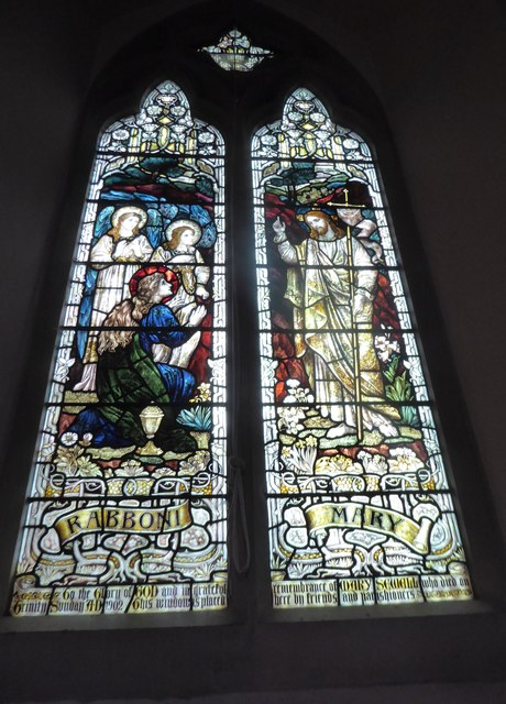 St Andrew, Colne Engaine: stained glass window (b)