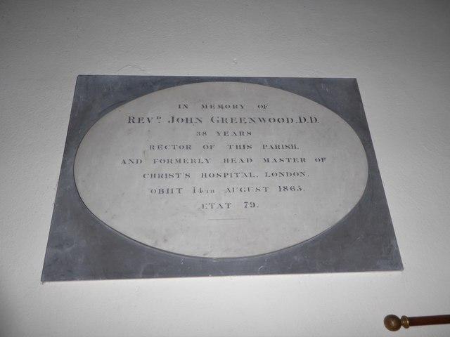 St Andrew, Colne Engaine: memorial (g)