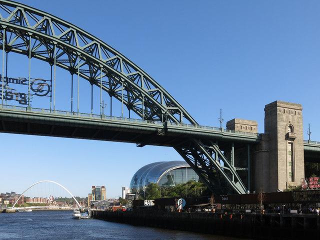 The Tyne Bridge, The Sage and the Millennium Bridge