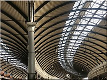 NZ2463 : Train shed roof, Newcastle Central by David Robinson