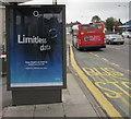 ST3090 : Limitless data advert on a Malpas Road bus shelter, Newport by Jaggery