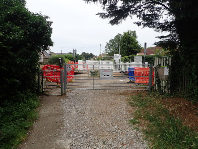 Unmanned level crossing at Cantley