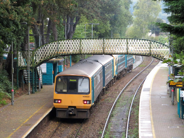 Pacer trains at Hengoed station
