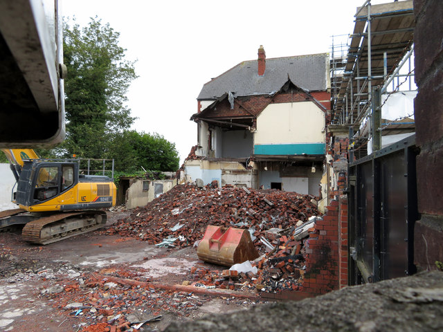 Demolition of the Gower public house
