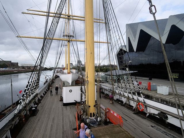 SV Glenlee at the Riverside Museum, Glasgow