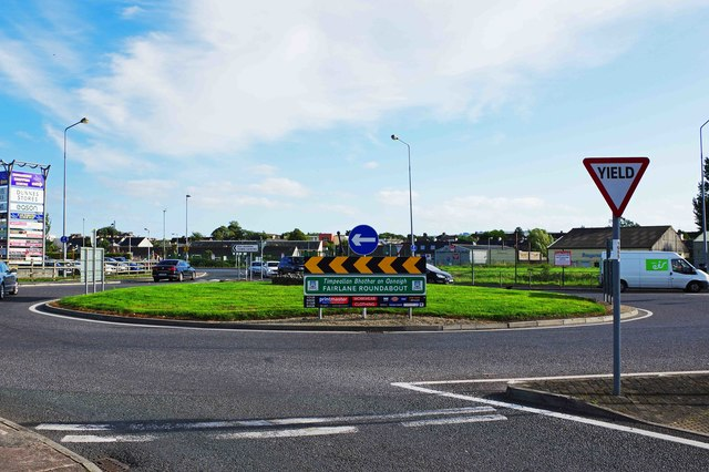 Fairlane Roundabout on the N25 road, Dungarvan, Co. Waterford