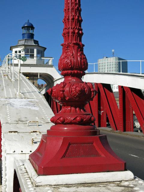 Lamppost on the Swing Bridge (detail)