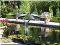 TQ3226 : Ornamental pond in the Italian Garden by Oliver Dixon