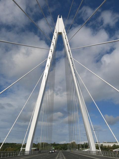 "The Northern Spire Bridge - the ""A-frame"" pylon"