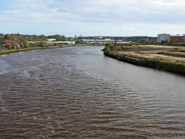 The River Wear downstream of the Northern Spire Bridge