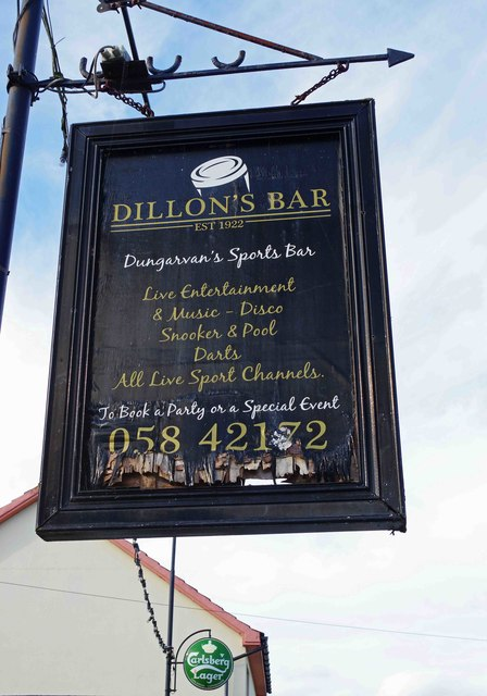 The former Dillon's Bar (2) - sign, Wolf Tone Road, Dungarvan, Co. Waterford