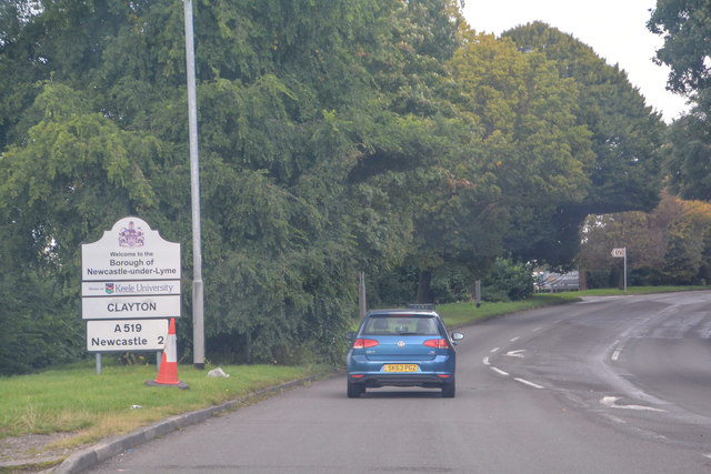 Newcastle-Under-Lyme : Newcastle Road A519