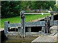 SJ9689 : Marple Locks No 7 top gate, Stockport by Roger  Kidd