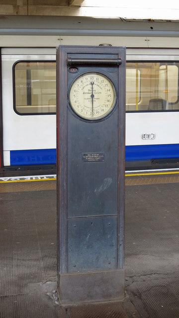 Weighing machine on Uxbridge tube station