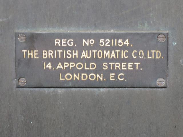 Weighing machine on Uxbridge tube station - detail