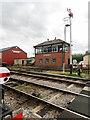 SP0229 : GWSR Signal Box at Winchcombe Station by David Dixon
