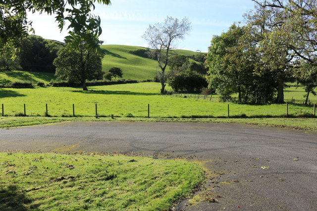 Car Park and Farmland at Irongray Church