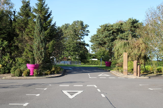 Exit Road from Garden Wise Dumfries