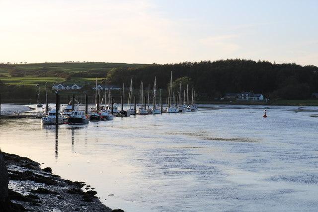 Yacht Moorings on the Dee, Kirkcudbright