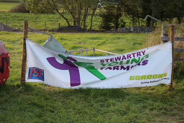 Stewartry Young Farmer's Sign