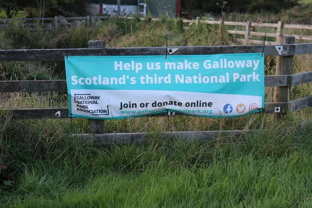Galloway National Park Association Sign