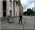 SJ8397 : Political comedian in St Peter's Square by Gerald England