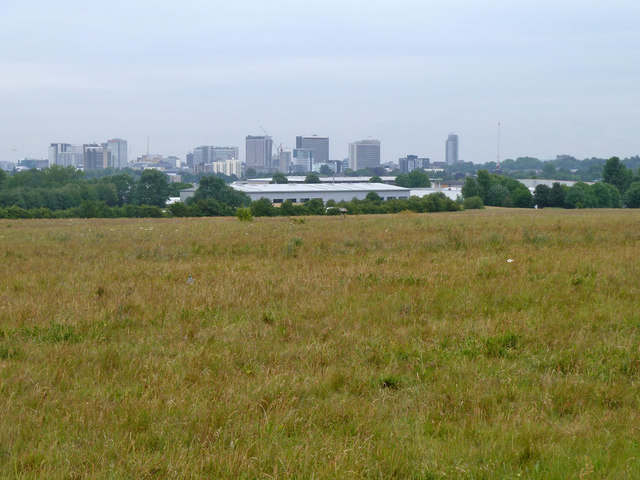 View towards central Croydon from Roundshaw Downs