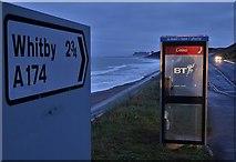 NZ8612 : Telephone kiosk by Sandsend Road by Neil Theasby