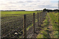 NZ2697 : Field path near Chibburn by Jim Barton