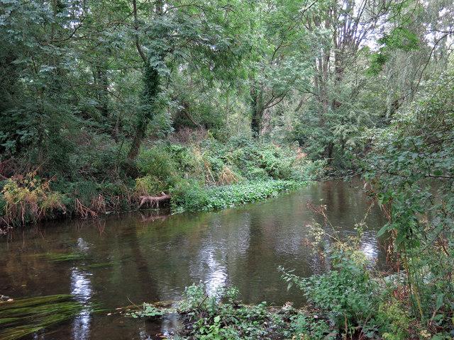 The River Colne upstream of coal tax boundary post no.66