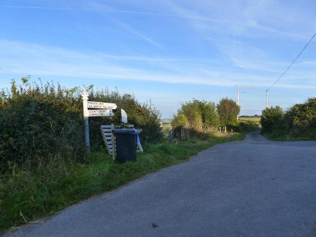 Road junction near Yarner Farm, near Culbone
